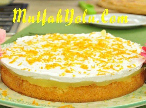 Portakallı Puf Pasta Tarifi