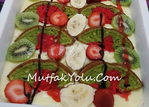 Pudingli Meyveli Kek Tarifi